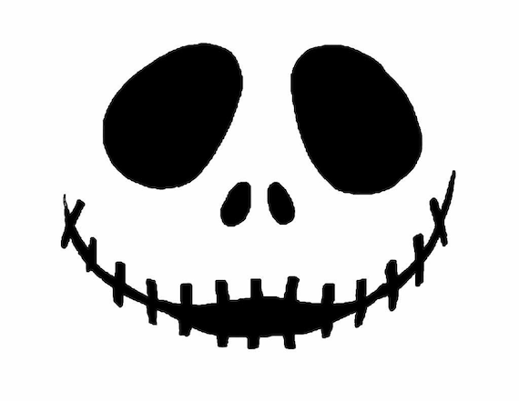 Jack Skellington Nightmare before christmas  Stencil Dxf