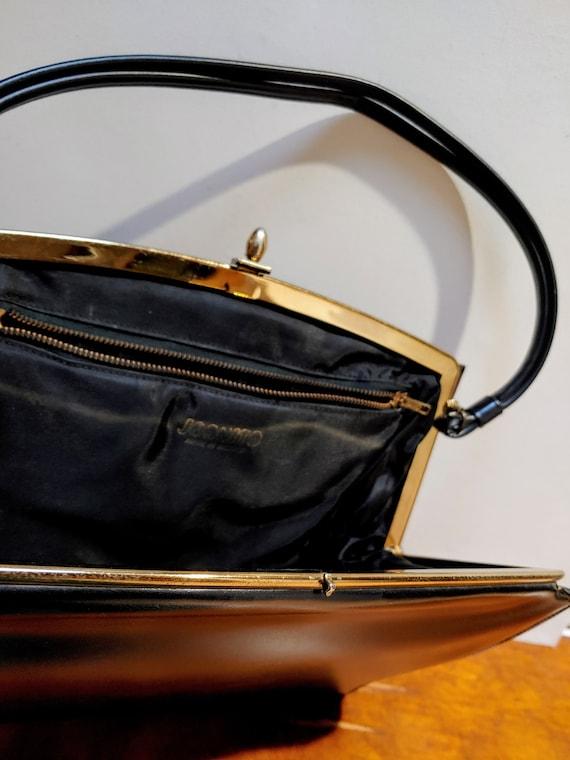 VINTAGE TOP HANDLE Black Handbag, Elegant Grace K… - image 4