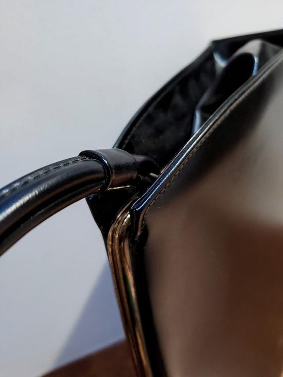 VINTAGE TOP HANDLE Black Handbag, Elegant Grace K… - image 7