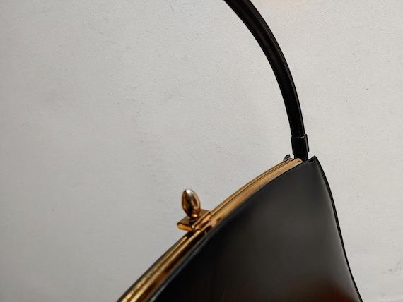 VINTAGE TOP HANDLE Black Handbag, Elegant Grace K… - image 10