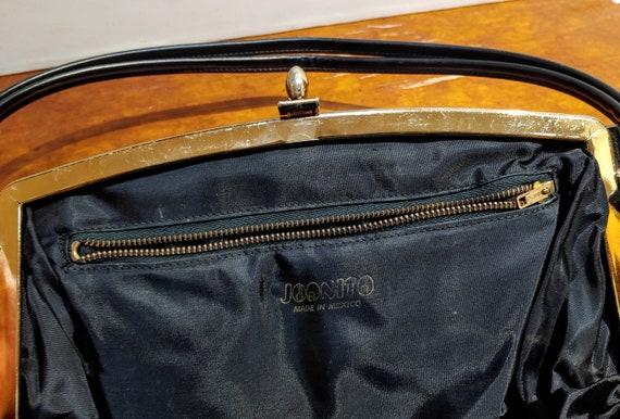 VINTAGE TOP HANDLE Black Handbag, Elegant Grace K… - image 5
