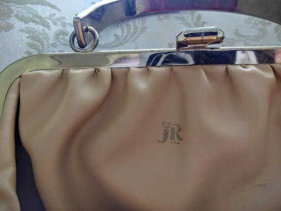 VINTAGE TOP Handle Red Handbag, JR U.S.A. Vintage… - image 5