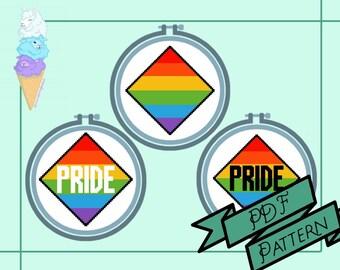 PDF Traditional Pride Flag Cross Stitch Pattern