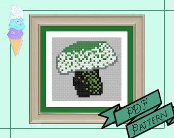 Aromantic Mushroom Mini Cross Stitch | Aro Pride | Pride Cross Stitch