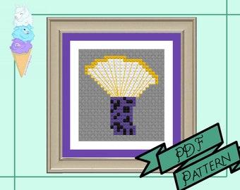 Nonbinary Mushroom Mini Cross Stitch | Enby Pride | Pride Cross Stitch