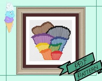 Rainbow Mushroom Cross Stitch | LGBTQIA+ Pride | Pride Cross Stitch