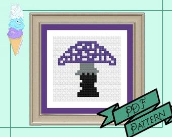 Asexual Mushroom Mini Cross Stitch | Ace Pride | Pride Cross Stitch