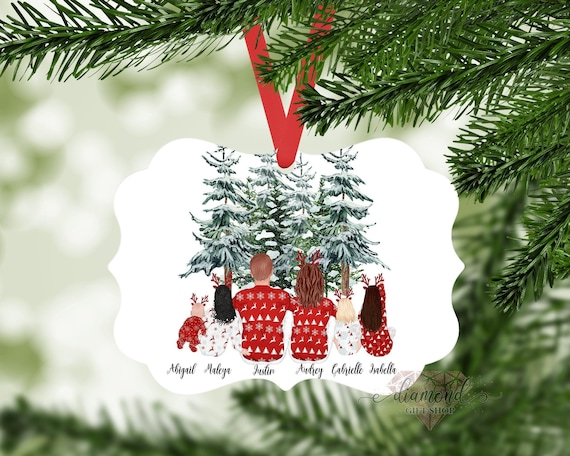 Personalized Family Christmas Ornament  Family Portrait