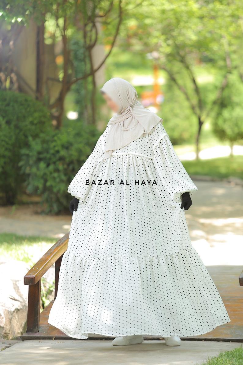 Mubina Abaya Dress White Style Breathable Khimar Jilbab Full Length Abaya Maxi Long Dress Spring Dress Premium Quality Modest Design Jilbab
