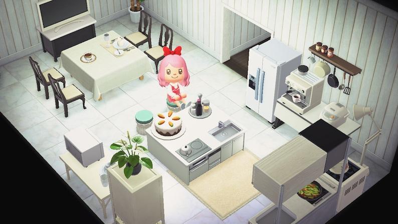 ACNH Kitchen Set Animal Crossing New Horizons Spacious   Etsy on Kitchen Items Animal Crossing  id=59296