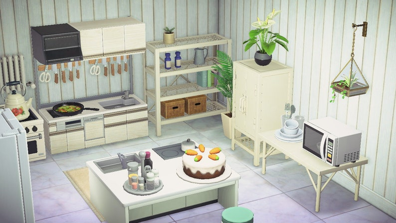 ACNH Kitchen Set Animal Crossing New Horizons Spacious   Etsy on Kitchen Items Animal Crossing  id=83373