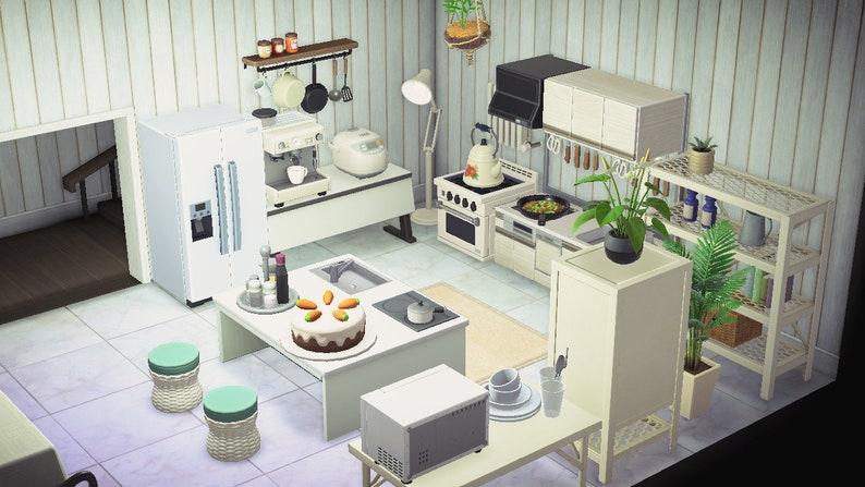 ACNH Kitchen Set Animal Crossing New Horizons Spacious   Etsy on Kitchen Items Animal Crossing  id=91429