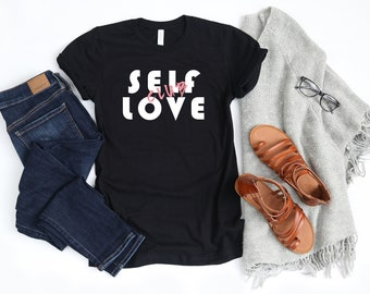 Self Love Club, Unisex T-Shirt or Women's T-Shirt or Muscle Tank (option to personalize the back)
