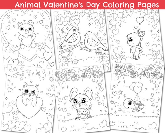 Printable Valentine's Day coloring pages kids coloring