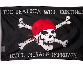 BEATINGS WILL CONTINUE BOAT FLAG 3X5FT BANNER US shipper