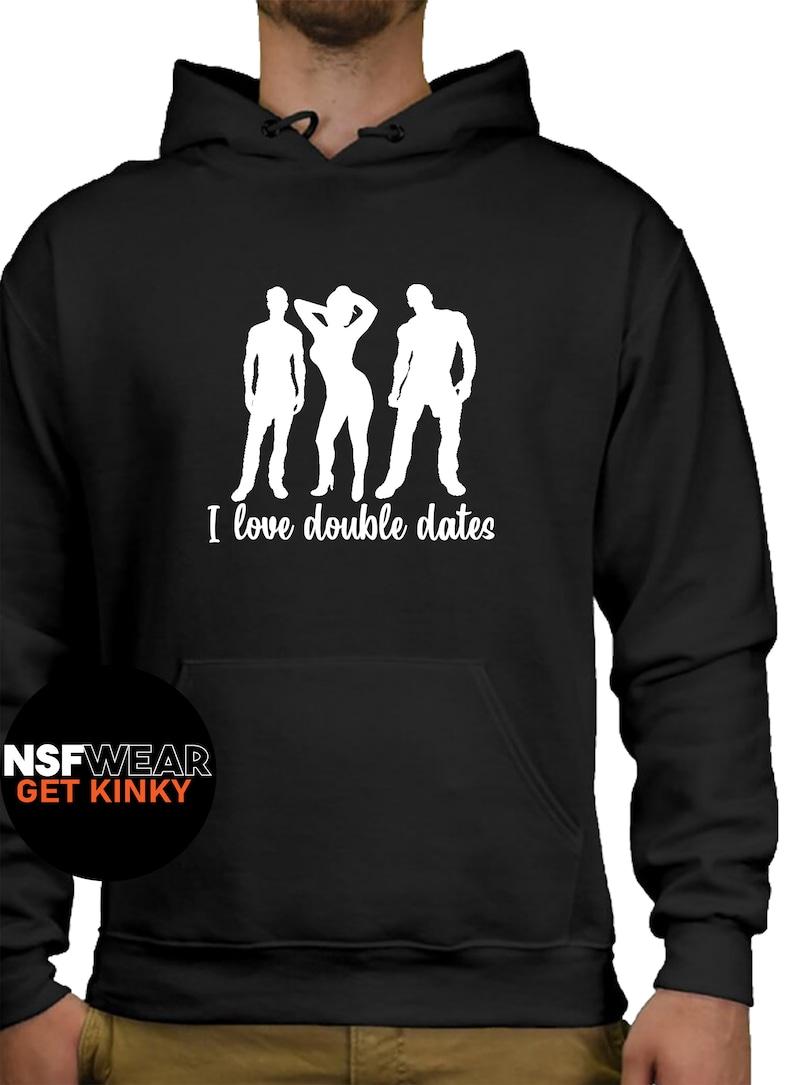 I Love Date Night Hoodie Swinger Hotwife QoS Group Sex Black Hoodie