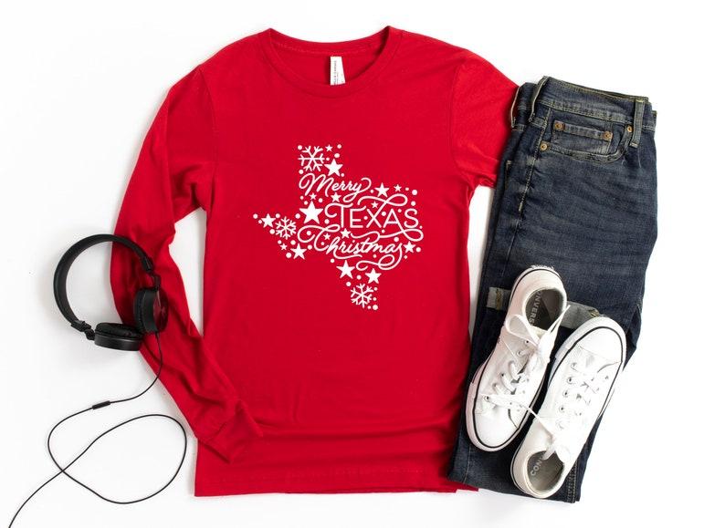 Gift for Christmas Christmas Quarantine Family Christmas Long Sleeve Texas State Long Sleeve Mery Texas Christmas Long sleeve T-shirt
