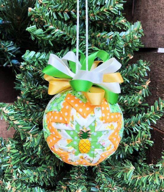 Geode Ornament Pine Apple Christmas Ornament Pineapple Decor PINEAPPLE GEODE Crackle Ornament: Decorative Ornament Tropical Ornament