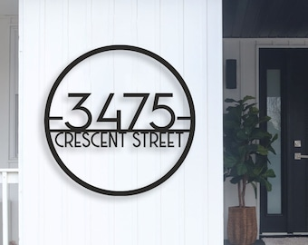 Modern House Numbers, House Number Sign Address number