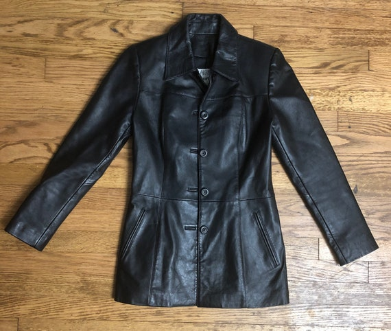 1980s XS Vakko Black Leather Jacket