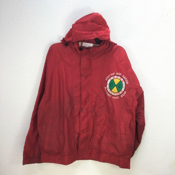Vintage CROSS COLOURS WINDBREAKER Jacket Large Si… - image 8