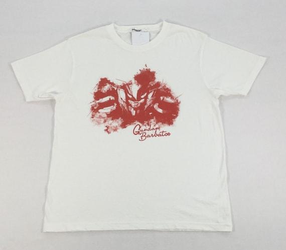 Japanese Anime GUNDAM BARBATOS BANDAI T-shirt Medi