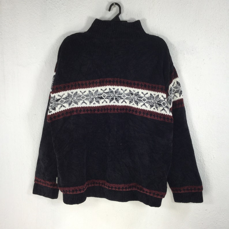 MAUI AND SONS Navajo Carduroy Jacket Xl Size Two Tone Sweater Full Zip Art