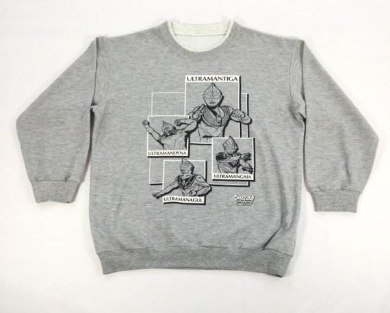 Vintage Japanese Anime ULTRAMAN Sweatshirt Large S
