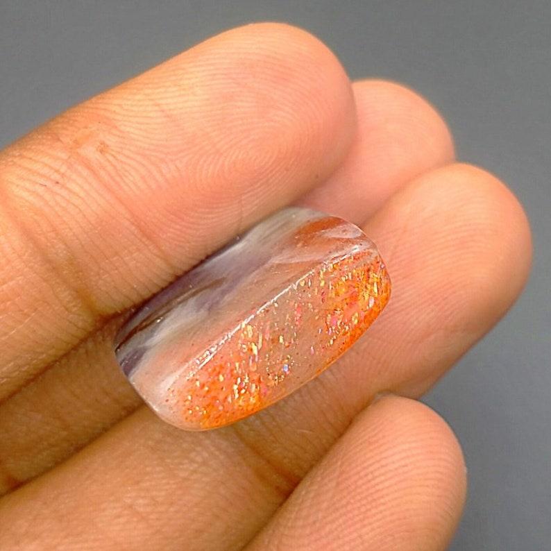 Cabochon Iolite Sunstone Gemstone AAA+ Quality Natural Radiant Shape Loose Gemstone For Jewelry Making