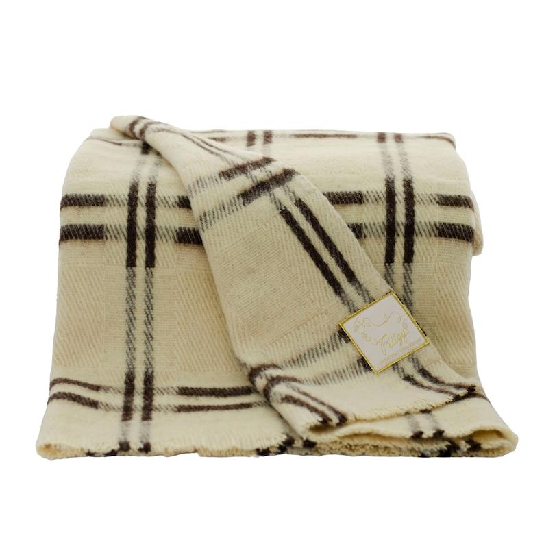 Soft Natural Wool Blanket