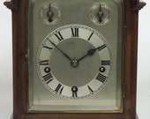 Incredible Sold Mahogany Mantel Clock Westminster Chime Musical Bracket Clock Chiming on 5 Coiled Gongs