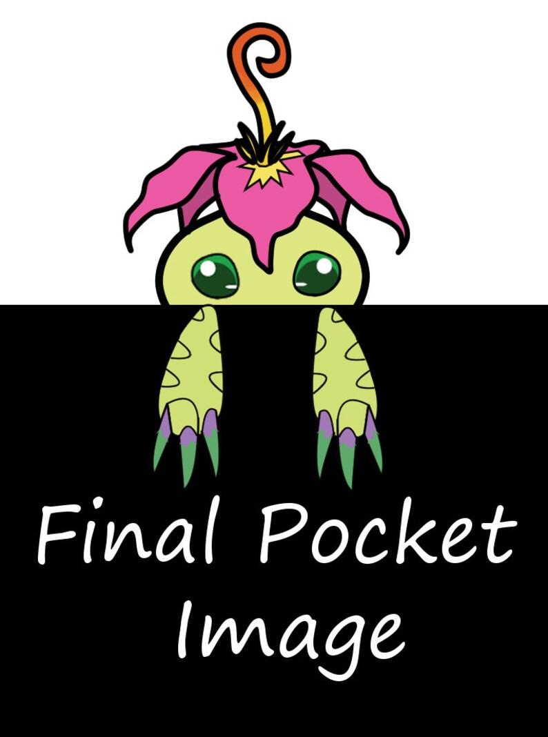 Generation 1 Adventures and 3 Tamers Digimon Pocket T-Shirt Pocket-Partner