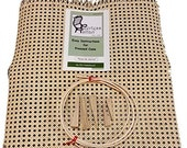 Cane Webbing Chair Seat Replacement Repair Kit Breuer 18 quot x 18 quot Pre-Woven Mesh Caning Caned