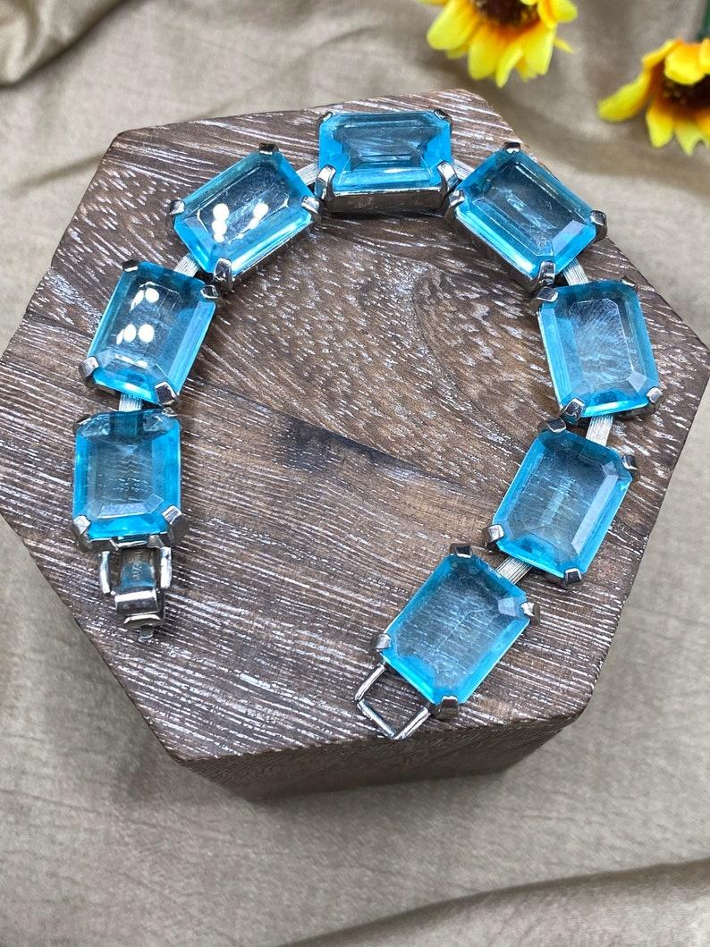 Alluring Aquamarine-Colored Stone Bracelet