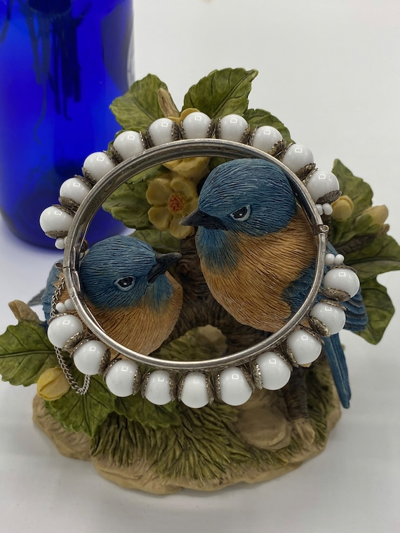 Vintage Miriam Haskell White Bead Bracelet