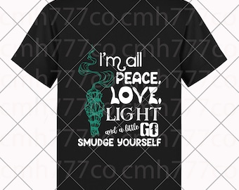 Peace Love Light Svg Etsy