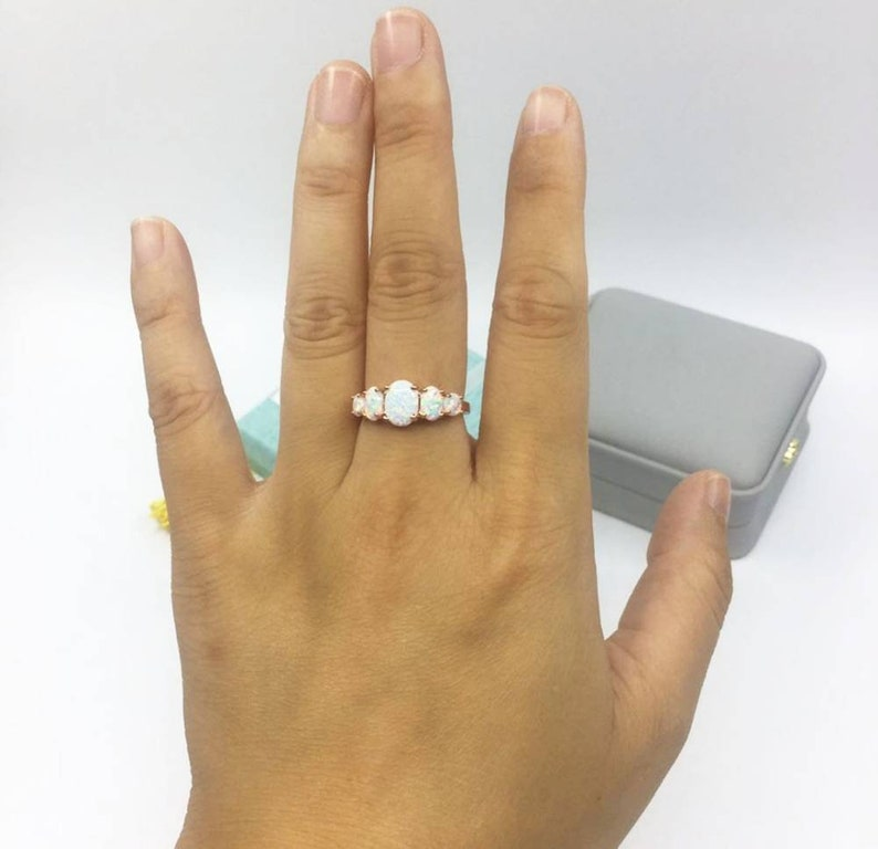 Opal Gemstone Ring Ethiopian Opal 92.5 silver Ring 14k Yellow Gold Rose Gold  Birthstone October Ring For Women/'s and Men/'s.