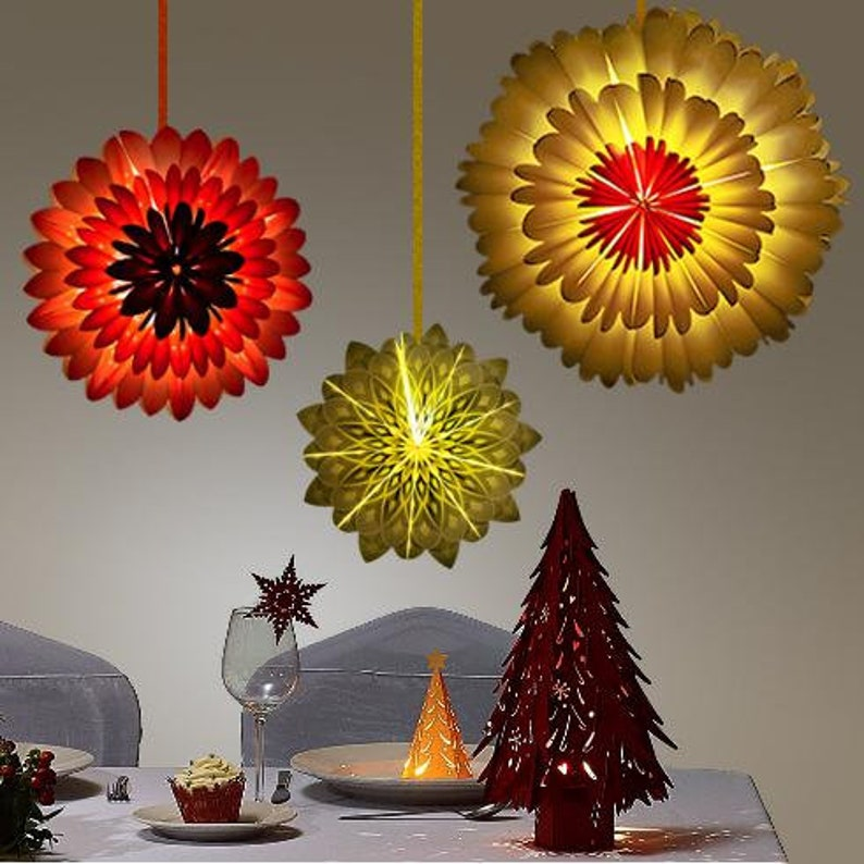 19 Yellow  Ora Sunflower Premium Handcrafted Paper Flower Lantern Light Decoration