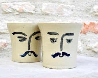 Monsieur stoneware mug, of French origin, can be used in the morning for tea or coffee