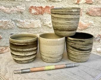White and gray mixed earth mug