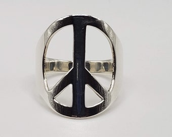 Rose Gold Peace Ring Peace Symbol,Symbol of Peace,Mother/'s Day Gift Peace Ring Silver Peace Ring Peace Symbol Ring Peace Symbol Jewelry