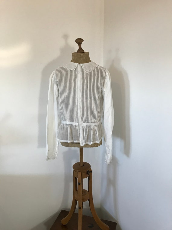 Victorian Cotton Voile Ladies Blouse C1880