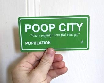Poop City Sticker - Guinea Pig Sticker - Cage Decor