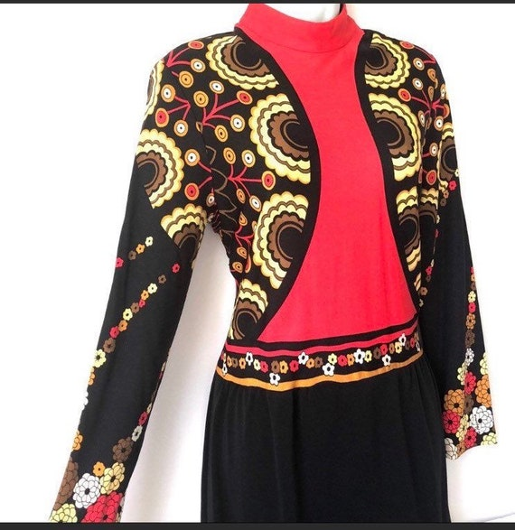 Vintage Paganne Couture 70's Disco Retro Geometric