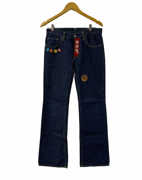 Hysteric Glamour Flare Cut Embroidered Jeans