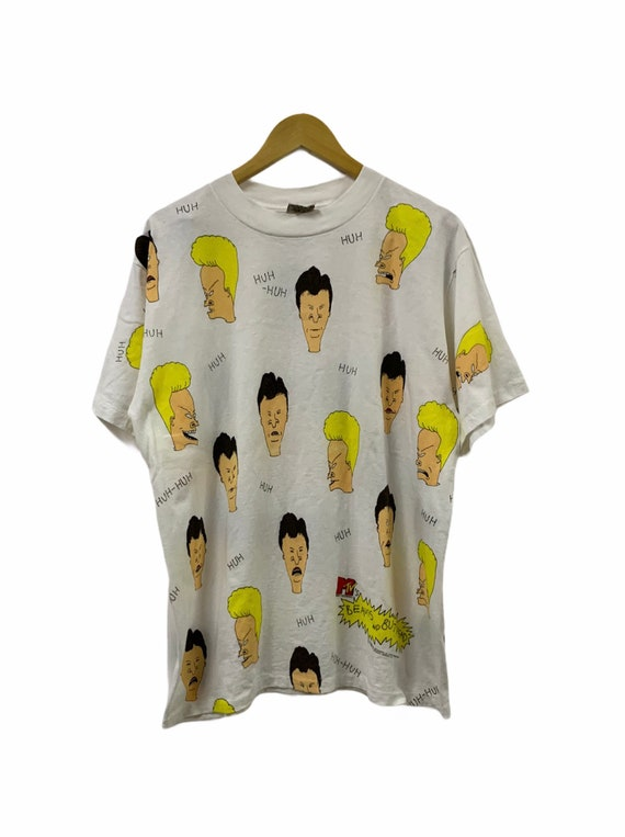 93 Beavis and Butthead All Over Print T-shirt