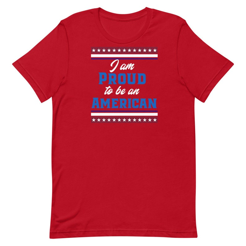 Star and Stripes Patriotic T-Shirt United State of America Proud American Patriotic Veterans Military Proud to be American