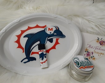 Miami Dolphins Ombr\u00e9 Colored Rolling Tray