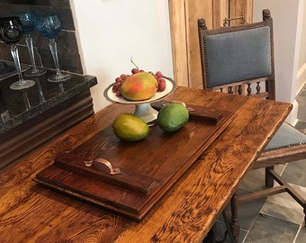 Reclaimed Wood  Serving Tray, Ottoman Tray, Rustic Serving Tray, Farmhouse Decor, Reclaimed Wood  Coffe Tray,Rustic Decor Serving Tray