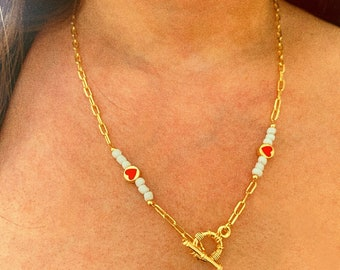 24k gold plated snail chain Victorian style lonv necklace 24 Minty